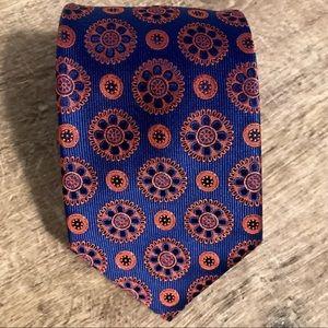 NWOT Navy and Orange Pierre Cardin tie
